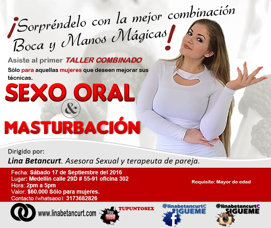 taller de sexo oral Youtuber colombia